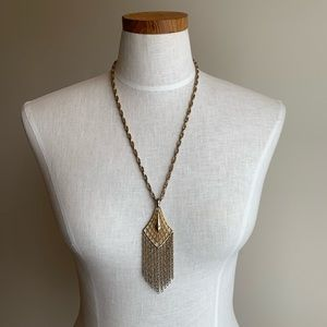 Vintage necklace with large pendant